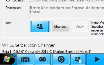 how to change taskbar icons