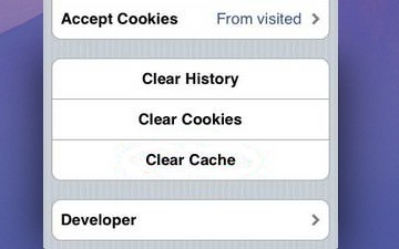 How to Clear Cache and Cookies from Safari in iOS