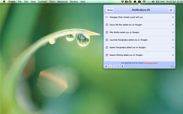 Use Google+ From Your Mac Menu Bar
