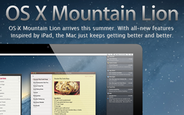 Apple Announces 10.8 Mountain Lion